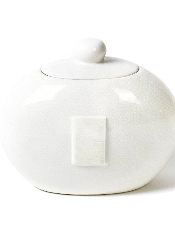 Happy Everything White Small Dot Cookie Jar