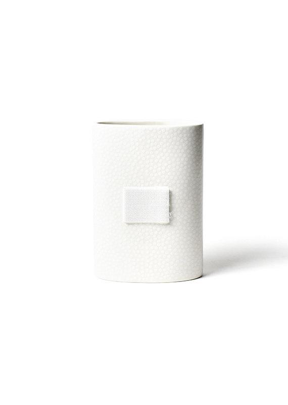 Happy Everything White Small Dot Mini Oval Vase