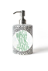 Happy Everything Black Small Dot Soap Pump
