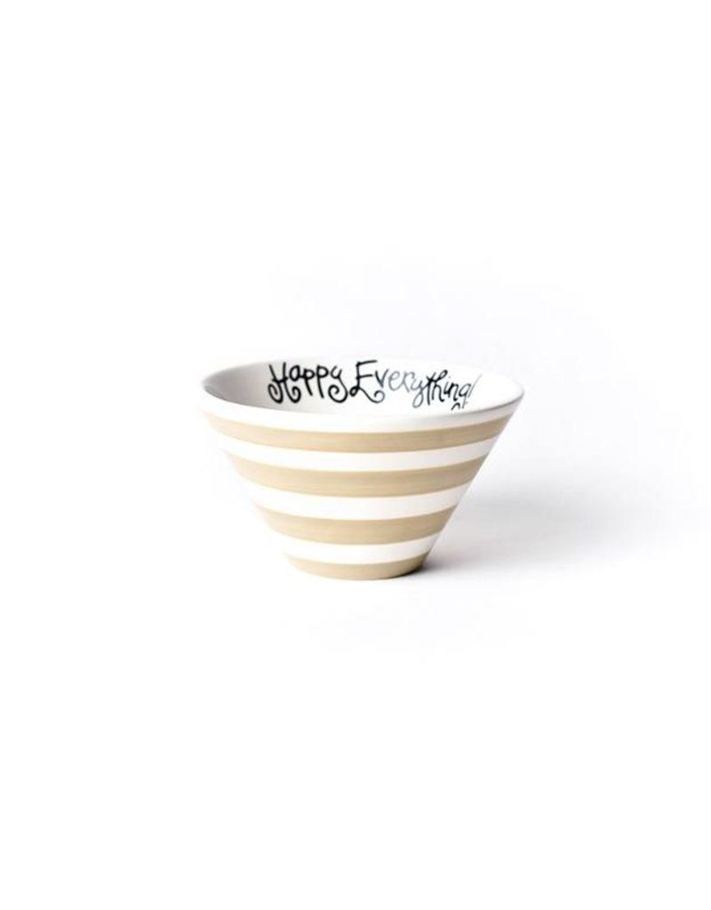 Happy Everything Cobble Stripe BE HAPPY Mod Small Bowl
