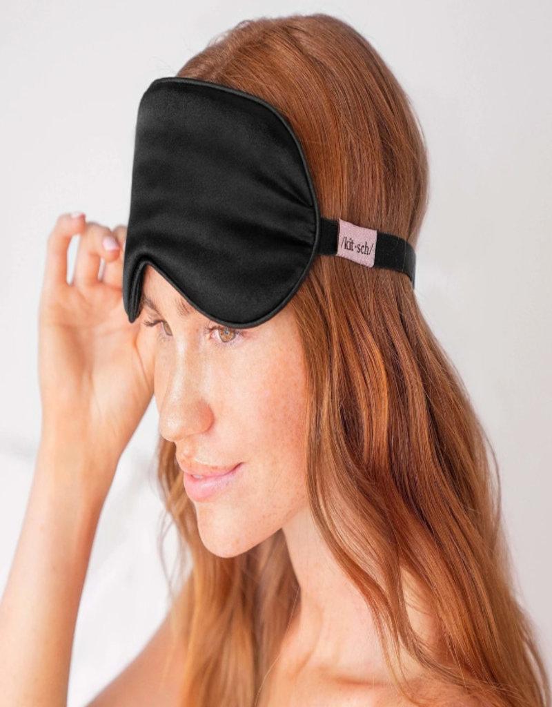 Kitsch Satin Eye Mask- Black