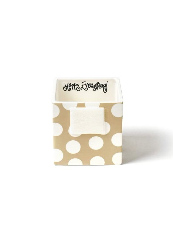 Happy Everything Neutral Dot Mini Nesting Cube- Small