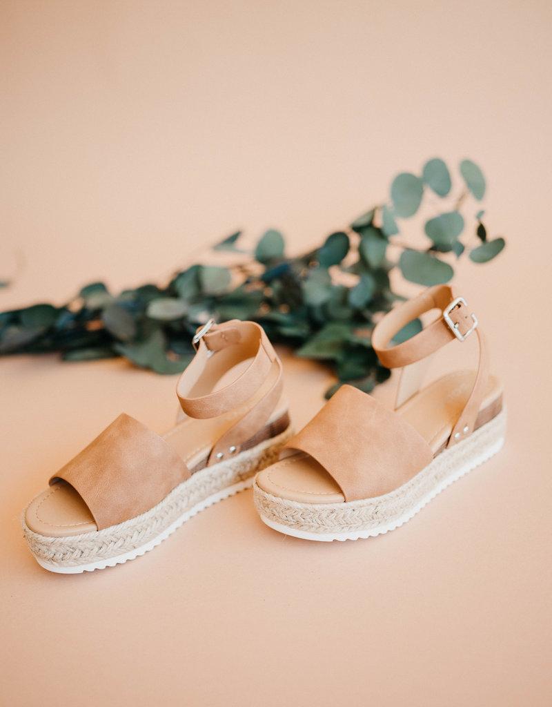 Topic Platform Sandals-Tan