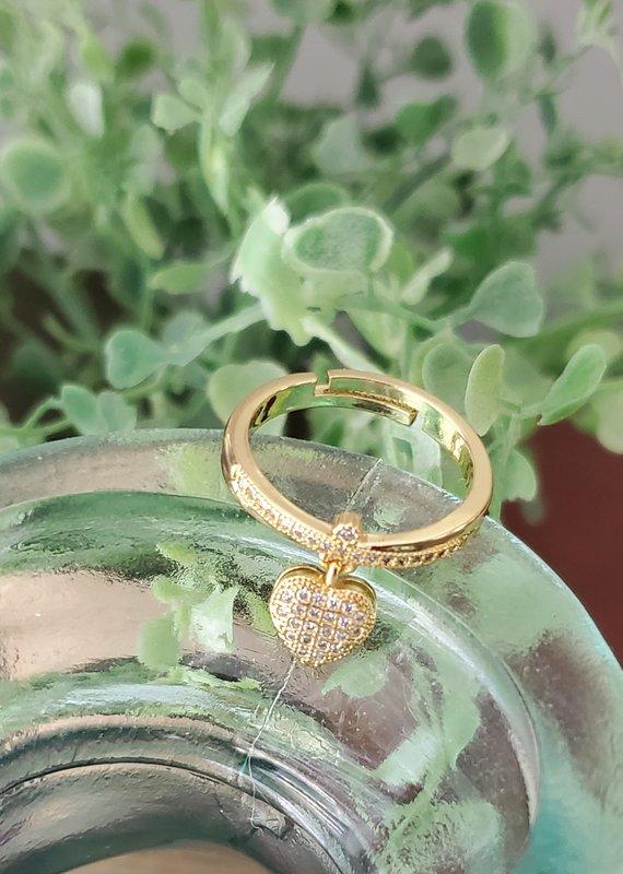 LDayDesigns Charm Ring- Crystal Clear