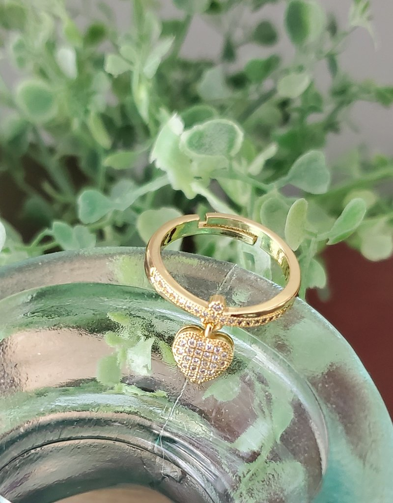 LDayDesigns Charm Ring- Crystal Clear
