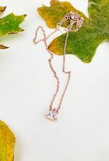 LDayDesigns Rose Crystal Triangle Necklace