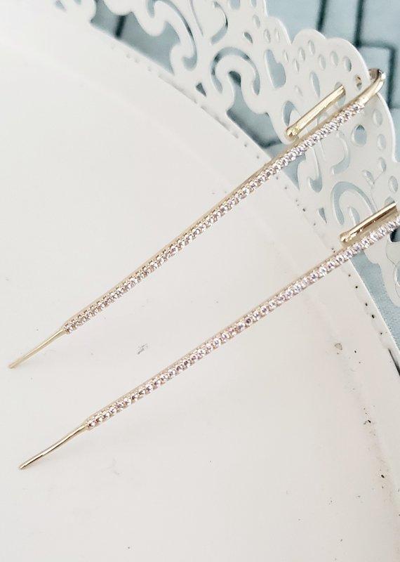 LDayDesigns Crystal Bar Ear Pin