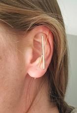 LDayDesigns Cross Bar Ear Spike