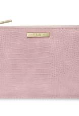 Celine Croc Perfect Pouch-Pink