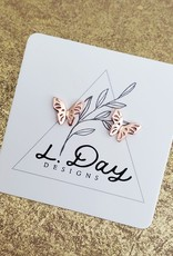 LDayDesigns Rosy Butterfly- Sterling Silver