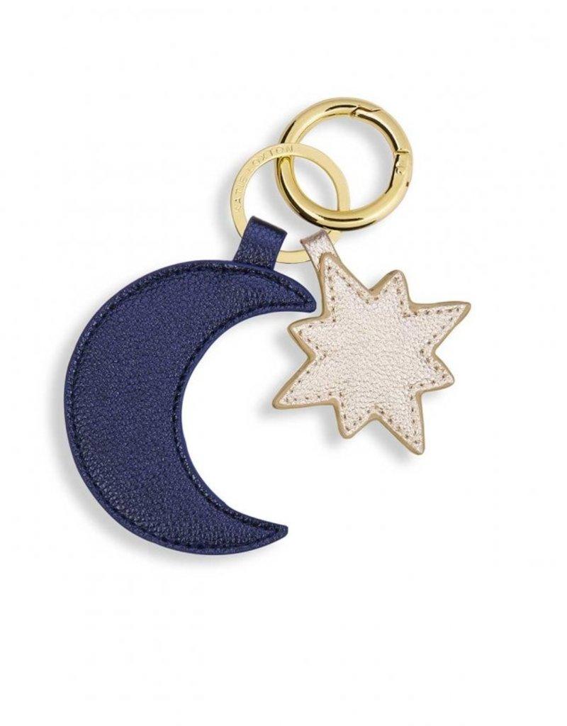Moon & Star Keyring