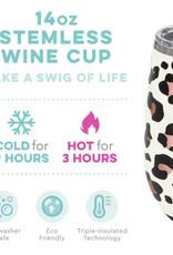 Luxy Leopard Stemless Wine