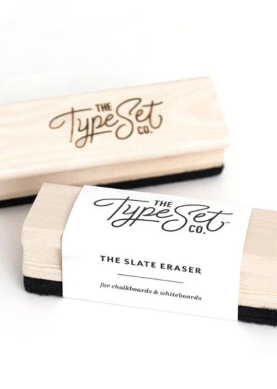 Type Set Co Slate Eraser