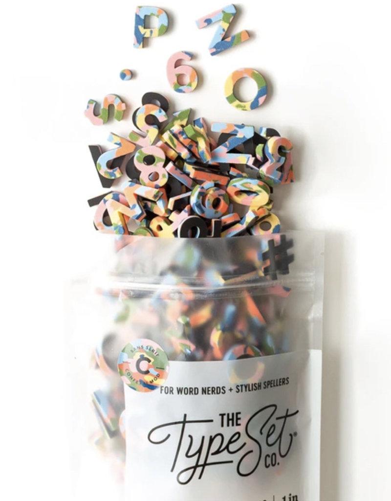 Type Set Co Magnetic Letters- Rainbow Confetti Mod