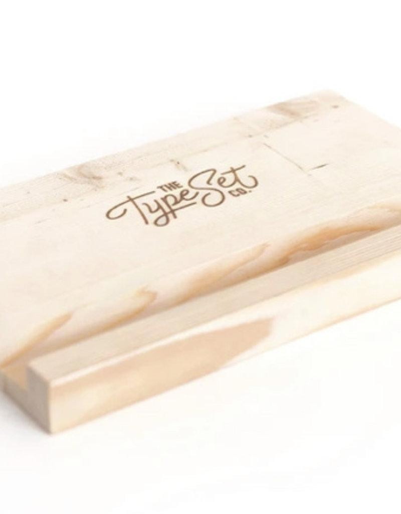 Type Set Co Block Easel