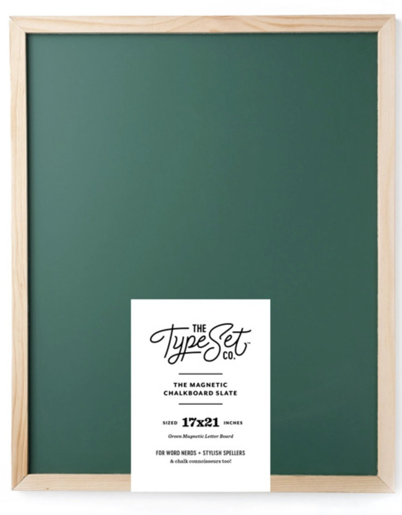 Type Set Co Magnetic Letter Board- Green Big