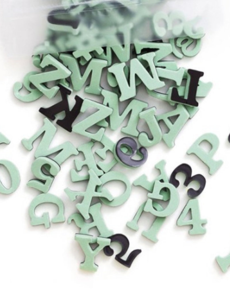 Type Set Co Magnetic Letters Indy Green