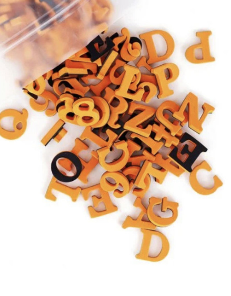 Type Set Co Magnetic Letters- Orange Cream