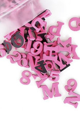 Type Set Co Magnetic Letters- Mad Magenta