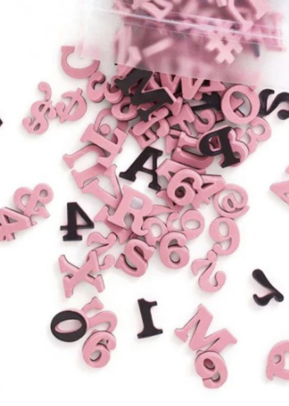 Type Set Co Magnetic Letters- Rose Quartz