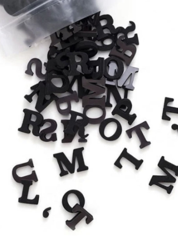 Type Set Co Magnetic Letters- Inky Black
