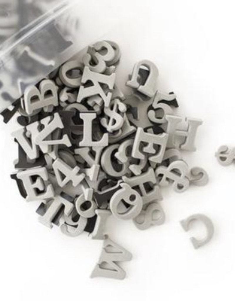 Type Set Co Magnetic Letters - Galaxy Gray