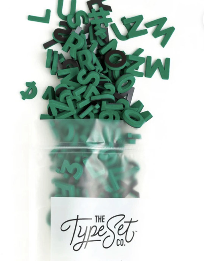 Type Set Co Magnetic Letters- Emerald City