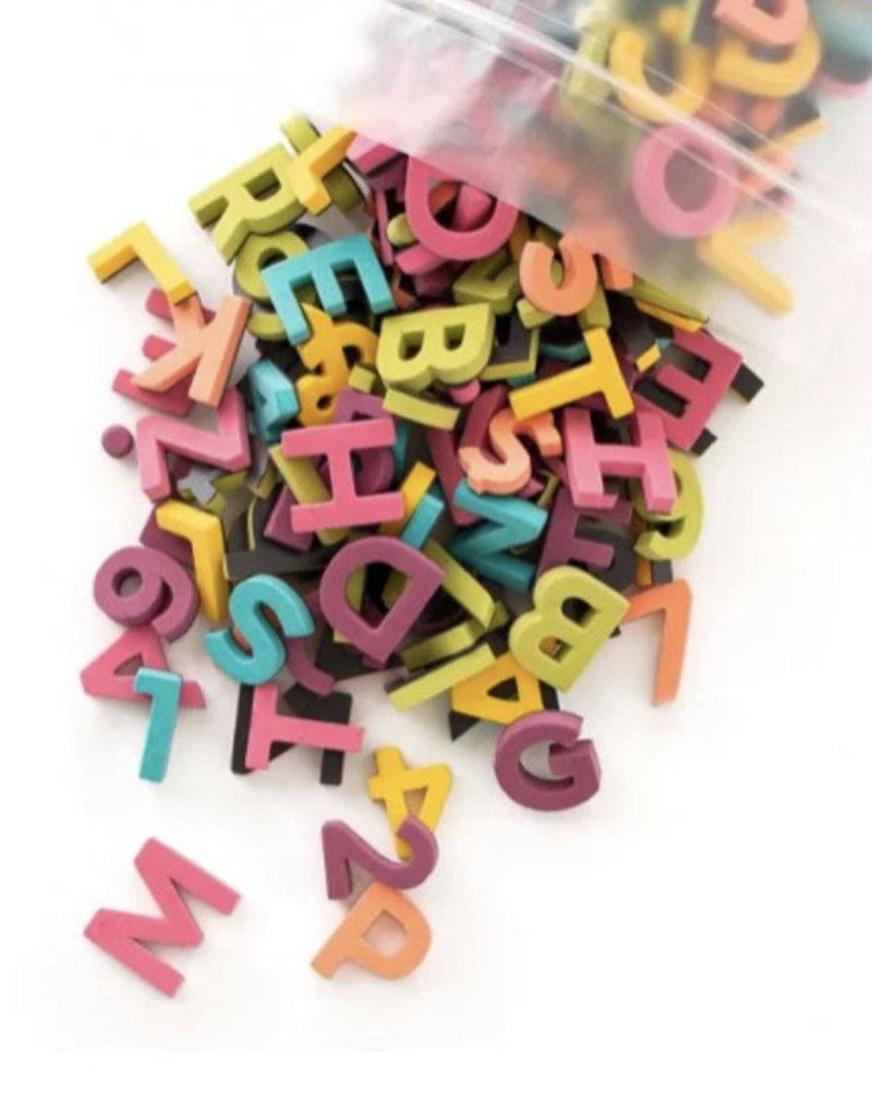 Type Set Co Magnetic Letters Rainbow Pop