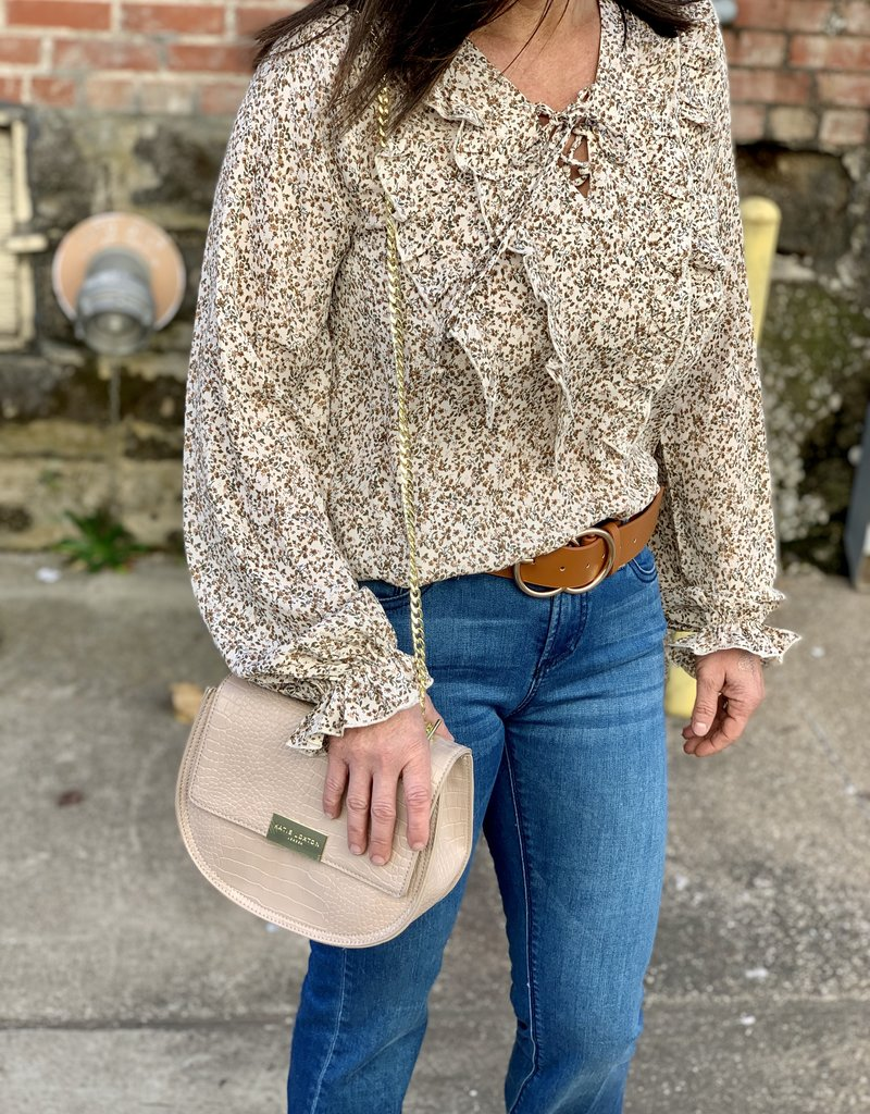 Cream Floral Blouse