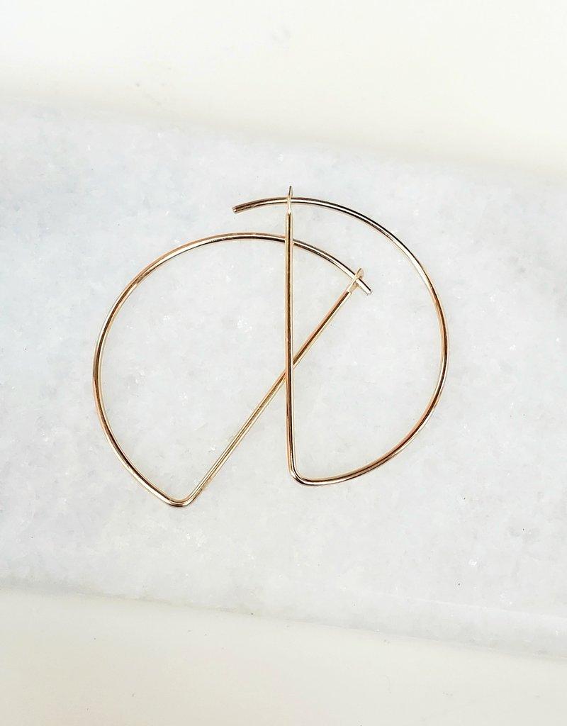 LDayDesigns Minimalist Half Circle Hoop