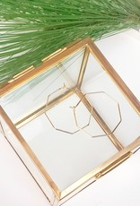 LDayDesigns Minimalist Octagon Hoop-Gold