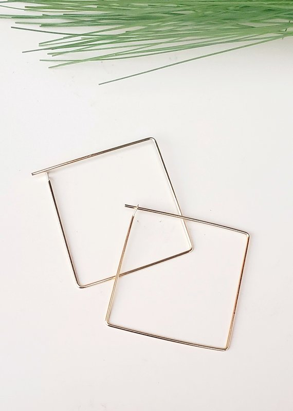 LDayDesigns Minimalist Square Hoop- Large