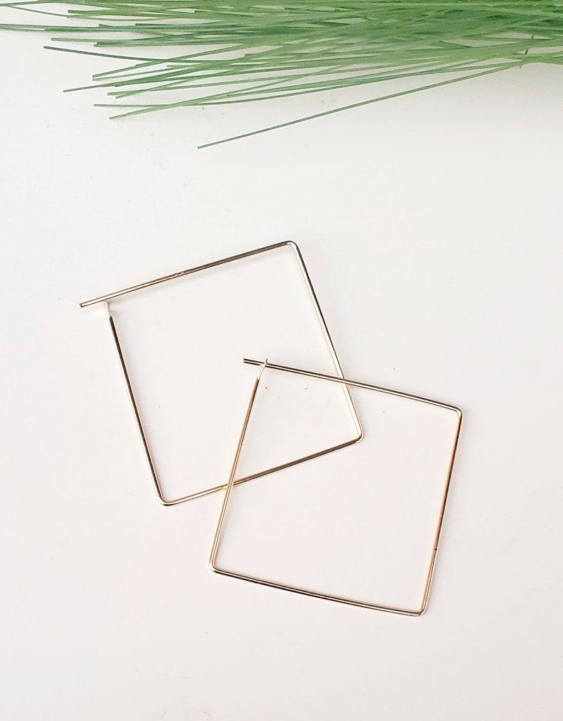 LDayDesigns Minimalist Square Hoop- Large