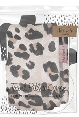 Kitsch Leopard Towel Pillow Cover
