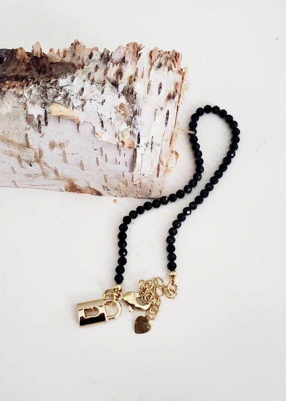 LDayDesigns BTE/ Black Agate Beaded Bracelet