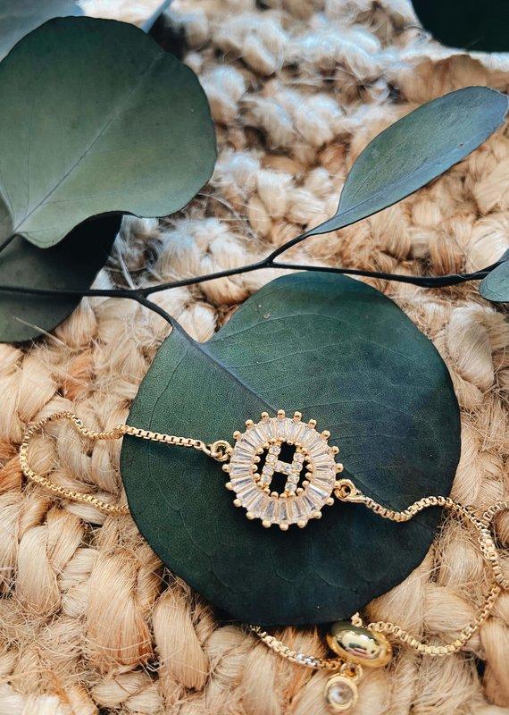 LDayDesigns Crystal Initial Bracelet - G