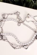 LDayDesigns Tennis Bracelet in Stainless Steel/Silver