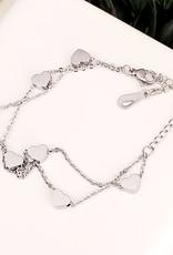 LDayDesigns Stainless Steel Hearts Bracelet