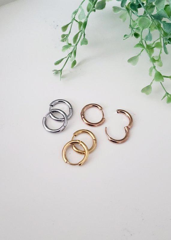 LDayDesigns Stainless Steel Gold Hoop