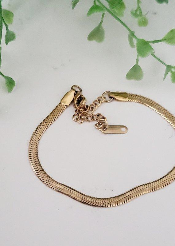 LDayDesigns Herringbone Snake Bracelet/Stainless Steel