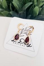 LDayDesigns Garnet Moon Earrings