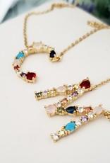 LDayDesigns Rainbow Initial Necklace