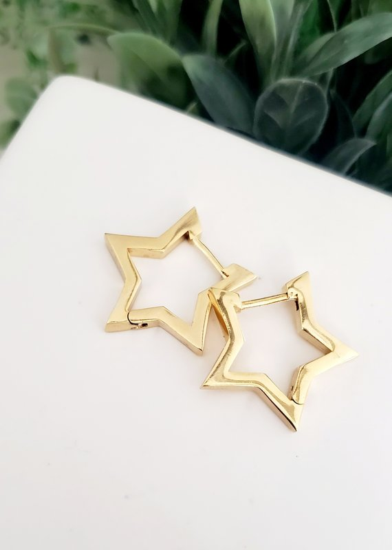 LDayDesigns Star Latch Hoop