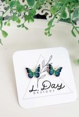 LDayDesigns Enamel Butterfly Studs