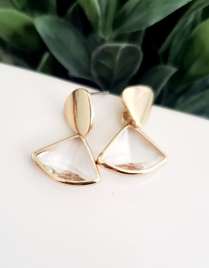 LDayDesigns Triangle Glass Post Earrings