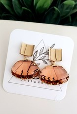 LDayDesigns Stained Glass & Gold - Peach