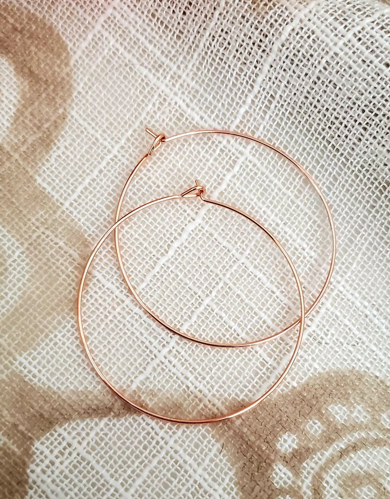 LDayDesigns Minimalist Hoop / Rose / Large