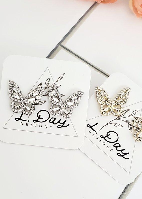 LDayDesigns Silver Dazzle Butterfly