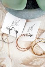 LDayDesigns Stainless Rose Hoops/Large