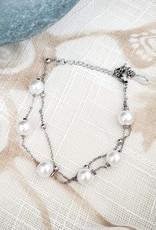 LDayDesigns Pearls/ Stainless Steel Bracelet